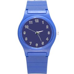 Usa Flag Blue Royal Blue Deep Blue Round Plastic Sport Watch (s) by PodArtist