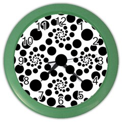 Dot Dots Round Black And White Color Wall Clocks by BangZart