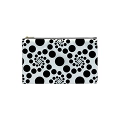 Dot Dots Round Black And White Cosmetic Bag (small)  by BangZart