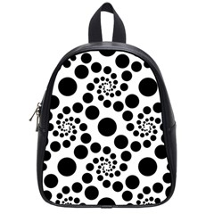 Dot Dots Round Black And White School Bags (small)  by BangZart