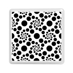 Dot Dots Round Black And White Memory Card Reader (square)