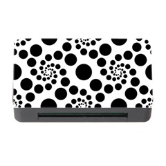 Dot Dots Round Black And White Memory Card Reader With Cf by BangZart