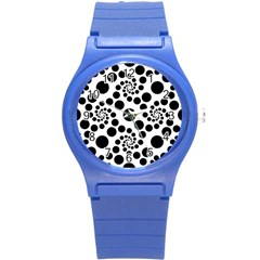 Dot Dots Round Black And White Round Plastic Sport Watch (s) by BangZart