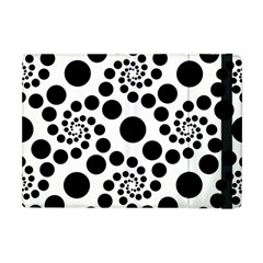 Dot Dots Round Black And White Apple Ipad Mini Flip Case by BangZart