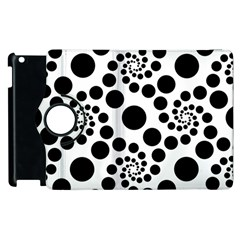 Dot Dots Round Black And White Apple Ipad 2 Flip 360 Case by BangZart