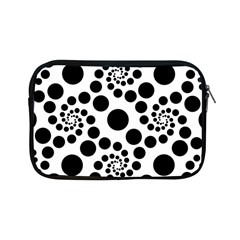Dot Dots Round Black And White Apple Ipad Mini Zipper Cases by BangZart
