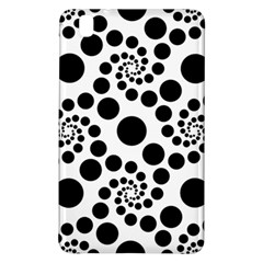 Dot Dots Round Black And White Samsung Galaxy Tab Pro 8 4 Hardshell Case by BangZart