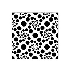 Dot Dots Round Black And White Satin Bandana Scarf