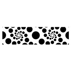 Dot Dots Round Black And White Satin Scarf (oblong) by BangZart