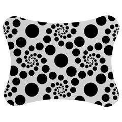 Dot Dots Round Black And White Jigsaw Puzzle Photo Stand (bow)