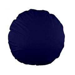 Usa Flag Blue Royal Blue Deep Blue Standard 15  Premium Flano Round Cushions by PodArtist