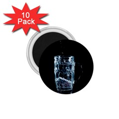 Glass Water Liquid Background 1 75  Magnets (10 Pack)