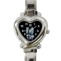 Glass Water Liquid Background Heart Italian Charm Watch by BangZart