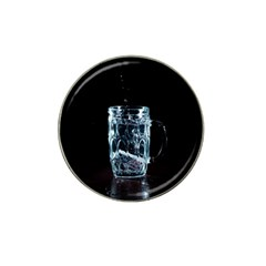 Glass Water Liquid Background Hat Clip Ball Marker (4 Pack) by BangZart