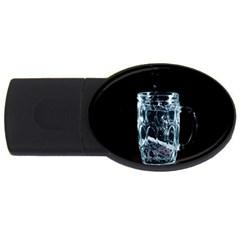 Glass Water Liquid Background Usb Flash Drive Oval (4 Gb) by BangZart