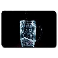 Glass Water Liquid Background Large Doormat