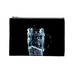 Glass Water Liquid Background Cosmetic Bag (large)  by BangZart