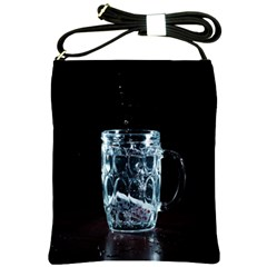 Glass Water Liquid Background Shoulder Sling Bags by BangZart