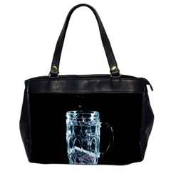 Glass Water Liquid Background Office Handbags (2 Sides)