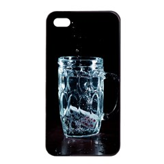 Glass Water Liquid Background Apple Iphone 4/4s Seamless Case (black) by BangZart