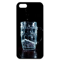 Glass Water Liquid Background Apple Iphone 5 Seamless Case (black) by BangZart