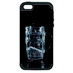 Glass Water Liquid Background Apple Iphone 5 Hardshell Case (pc+silicone)