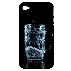 Glass Water Liquid Background Apple Iphone 4/4s Hardshell Case (pc+silicone) by BangZart