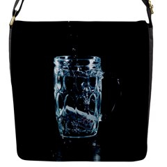 Glass Water Liquid Background Flap Messenger Bag (s) by BangZart