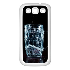 Glass Water Liquid Background Samsung Galaxy S3 Back Case (white) by BangZart
