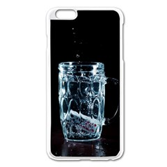 Glass Water Liquid Background Apple Iphone 6 Plus/6s Plus Enamel White Case by BangZart
