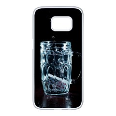 Glass Water Liquid Background Samsung Galaxy S7 Edge White Seamless Case by BangZart