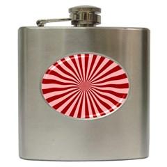 Sun Background Optics Channel Red Hip Flask (6 Oz)