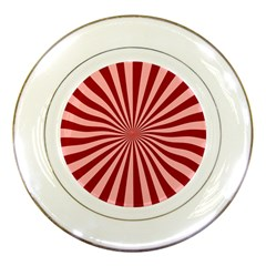 Sun Background Optics Channel Red Porcelain Plates by BangZart