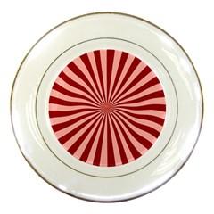 Sun Background Optics Channel Red Porcelain Plates