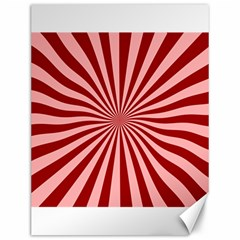 Sun Background Optics Channel Red Canvas 12  X 16   by BangZart