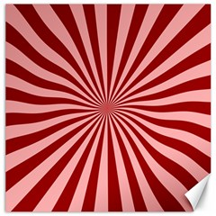 Sun Background Optics Channel Red Canvas 16  X 16   by BangZart