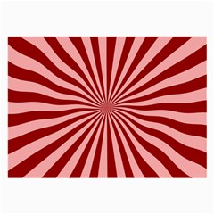 Sun Background Optics Channel Red Large Glasses Cloth (2 Side)