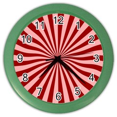 Sun Background Optics Channel Red Color Wall Clocks