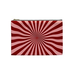 Sun Background Optics Channel Red Cosmetic Bag (medium)  by BangZart