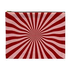 Sun Background Optics Channel Red Cosmetic Bag (xl)