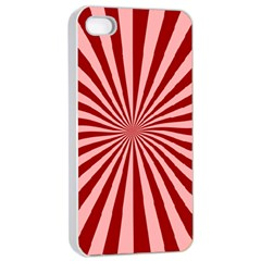 Sun Background Optics Channel Red Apple Iphone 4/4s Seamless Case (white) by BangZart