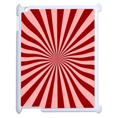 Sun Background Optics Channel Red Apple Ipad 2 Case (white) by BangZart
