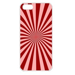 Sun Background Optics Channel Red Apple Iphone 5 Seamless Case (white)