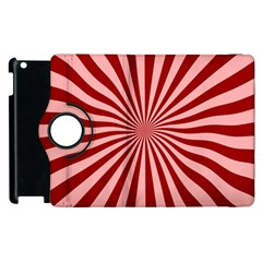 Sun Background Optics Channel Red Apple Ipad 2 Flip 360 Case by BangZart