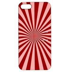 Sun Background Optics Channel Red Apple Iphone 5 Hardshell Case With Stand by BangZart