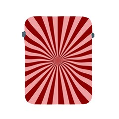 Sun Background Optics Channel Red Apple Ipad 2/3/4 Protective Soft Cases by BangZart