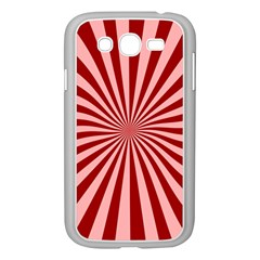 Sun Background Optics Channel Red Samsung Galaxy Grand Duos I9082 Case (white)