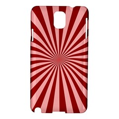 Sun Background Optics Channel Red Samsung Galaxy Note 3 N9005 Hardshell Case