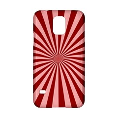 Sun Background Optics Channel Red Samsung Galaxy S5 Hardshell Case  by BangZart