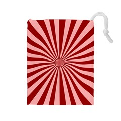 Sun Background Optics Channel Red Drawstring Pouches (large)  by BangZart